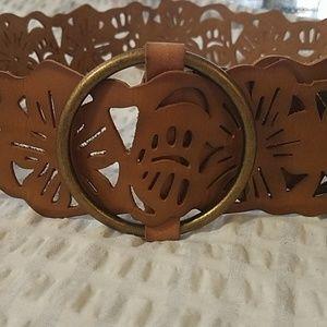 Hollister genuine leather wide belt